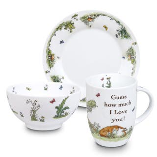 Konitz Waechtersbach 'Guess How Much I Love You' White Porcelain Children Mug, Plate, and Bowl|https://ak1.ostkcdn.com/images/products/12105974/P18967857.jpg?impolicy=medium