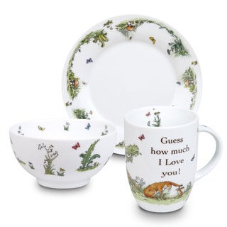 Konitz Waechtersbach 'Guess How Much I Love You' White Porcelain Children Mug, Plate, and Bowl