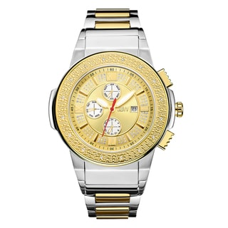 JBW Saxon JB-6101-L Two-tone Stainless Steel/Gold/Mineral Diamond Multifunction Men's Watch