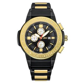 JBW Men's Saxon Two-tone Gold and Black Diamond Watch