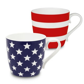 Konitz Waechtersbach Bone China Stars and Stripes Mugs (Set of 2)
