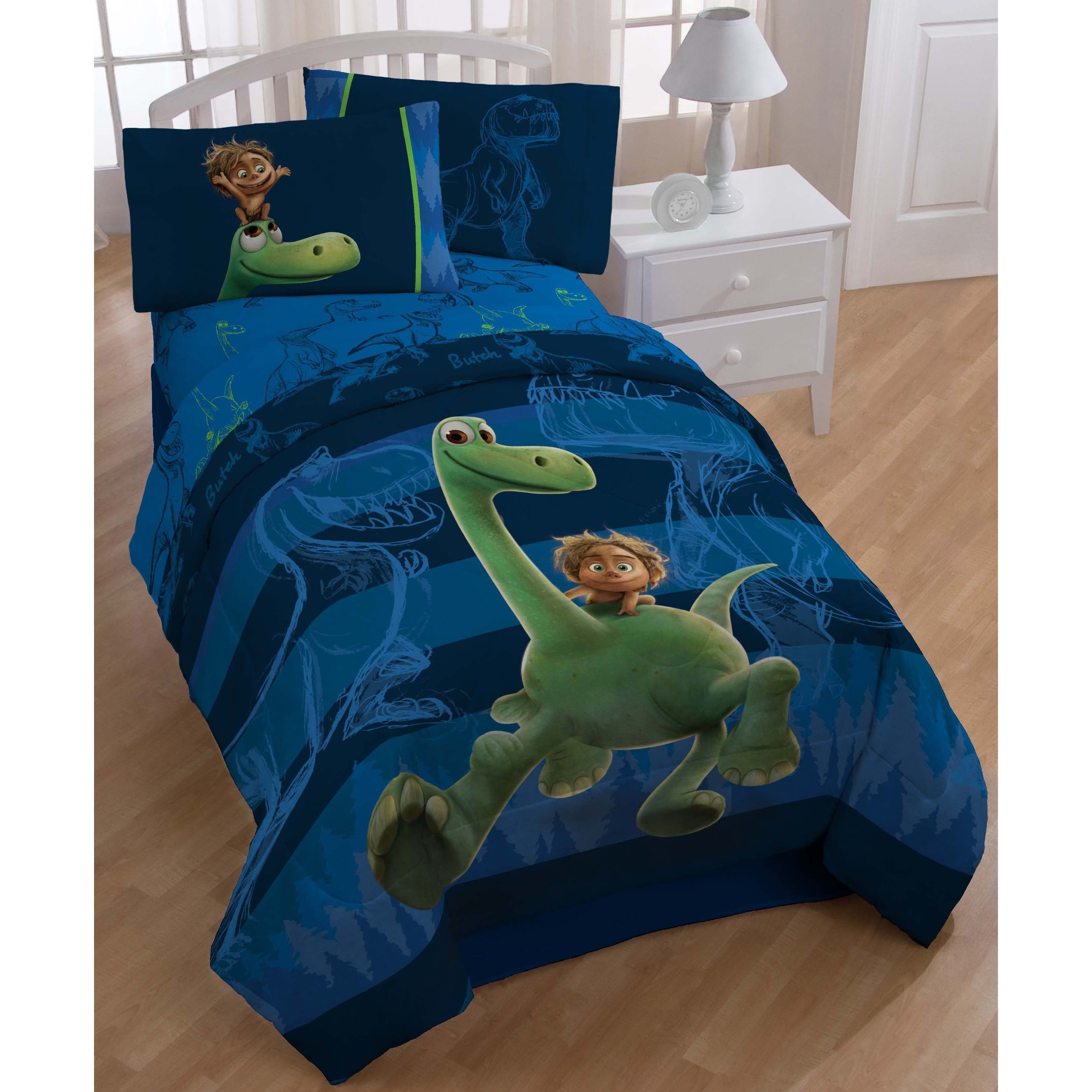 Disney Good Dinosaur Carnivore Twin-size 5-piece Bed in a...