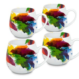 Konitz Waechtersbach 'On Color' White Porcelain Snuggle Mugs (Pack of 4)