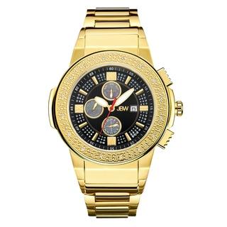 JBW Men's Saxon JB-6101-J 18k Gold-plated Stainless Steel Multi-function Diamond Watch