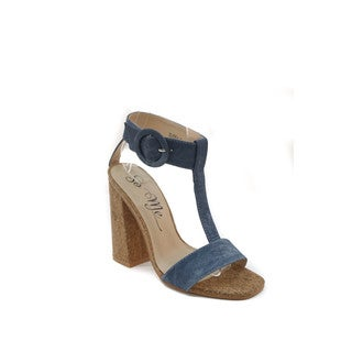 Hadari Women's T-Strap Sandals with Wooden Heels