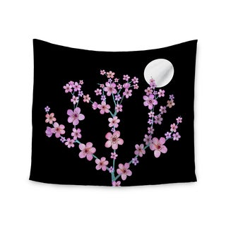 Kess InHouse Julia Grifol 'Cherry Blossom At Night' 51x60-inch Wall Tapestry