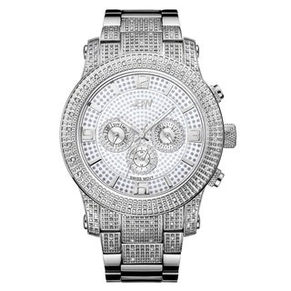 JBW Men's Lynx J6336E Stainless Steel Multi-Fuction Diamond Watch