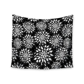 Kess InHouse Julia Grifol 'Black And White Garden' 51x60-inch Wall Tapestry