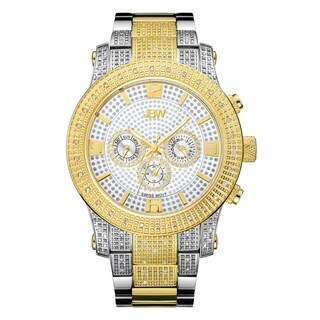 JBW Men's Lynx J6336D Two-tone Stainless Steel and Gold Multifuction Diamond Watch