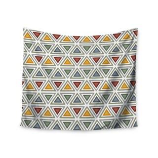Kess InHouse Julia Grifol 'Ikat Triangles' 51x60-inch Wall Tapestry