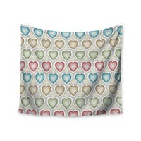 Kess InHouse Julia Grifol 'My Hearts' 51x60-inch Wall Tapestry