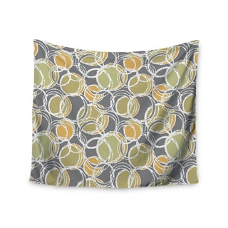 Kess InHouse Julia Grifol 'Simple Circles in Grey' 51x60-inch Wall Tapestry
