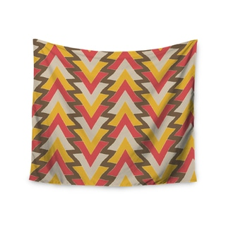 Kess InHouse Julia Grifol 'My Triangles in Red' 51x60-inch Wall Tapestry