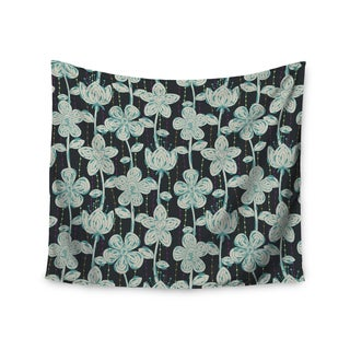 Kess InHouse Julia Grifol 'My Grey Spotted Flowers' 51x60-inch Wall Tapestry