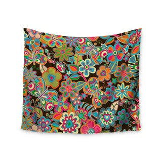 Kess InHouse Julia Grifol 'My Butterflies & Flowers' 51x60-inch Wall Tapestry