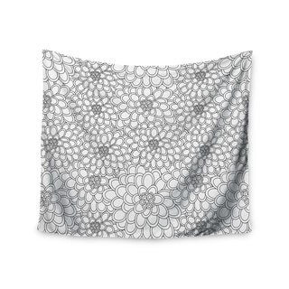 Kess InHouse Julia Grifol 'White Flowers' 51x60-inch Wall Tapestry