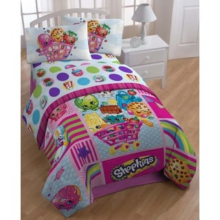 Moose Shopkins Patchwork-style Twin-size 5-piece Bed in a Bag with Sheet Set