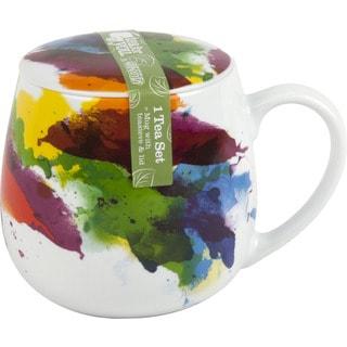 Konitz Waechtersbach Tea for One Color Flow White Porcelain 3-piece Mug Set