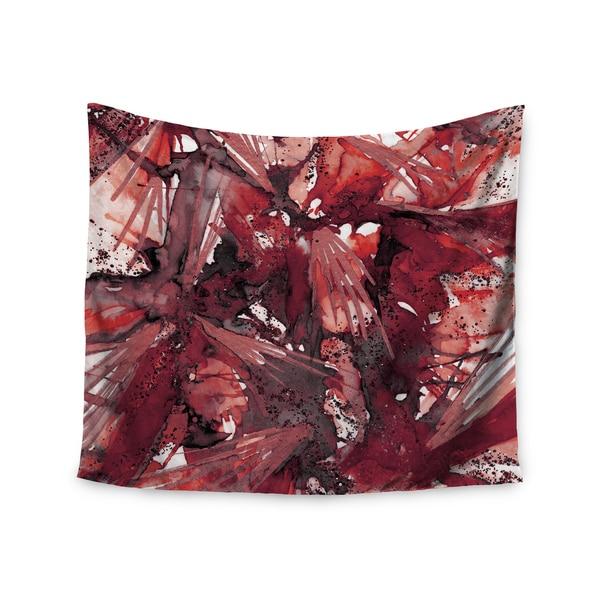 Kess InHouse Ebi Emporium 'Birds Of Prey - Red Black' 51x60-inch Wall Tapestry