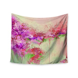 Kess InHouse Ebi Emporium 'When Land Met Sky 3' Pink Green51x60-inch Wall Tapestry