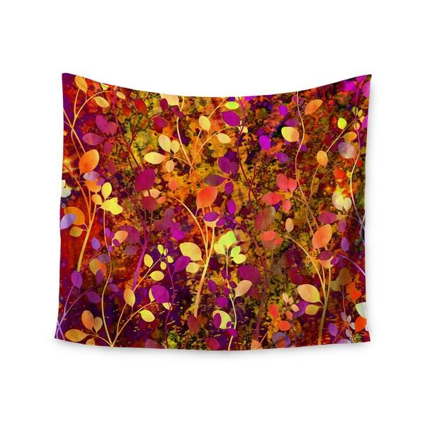 Kess InHouse Ebi Emporium 'Amongst the Flowers - Warm Sunset' 51x60-inch Wall Tapestry