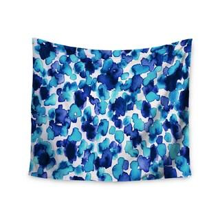 Kess InHouse Ebi Emporium 'Giraffe Spots - Aqua' 51x60-inch Wall Tapestry
