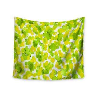 Kess InHouse Ebi Emporium 'Giraffe Spots - Lemon Lime' 51x60-inch Wall Tapestry