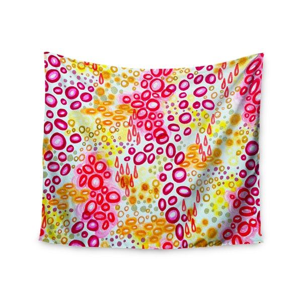 Kess InHouse Ebi Emporium 'Circular Persuasion Pink Yellow' 51x60-inch Wall Tapestry