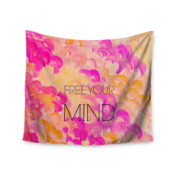 Kess InHouse Ebi Emporium 'Free Your Mind Pink' 51x60-inch Wall Tapestry