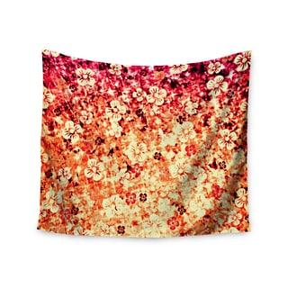 Kess InHouse Ebi Emporium 'Flower Power in Orange' 51x60-inch Wall Tapestry