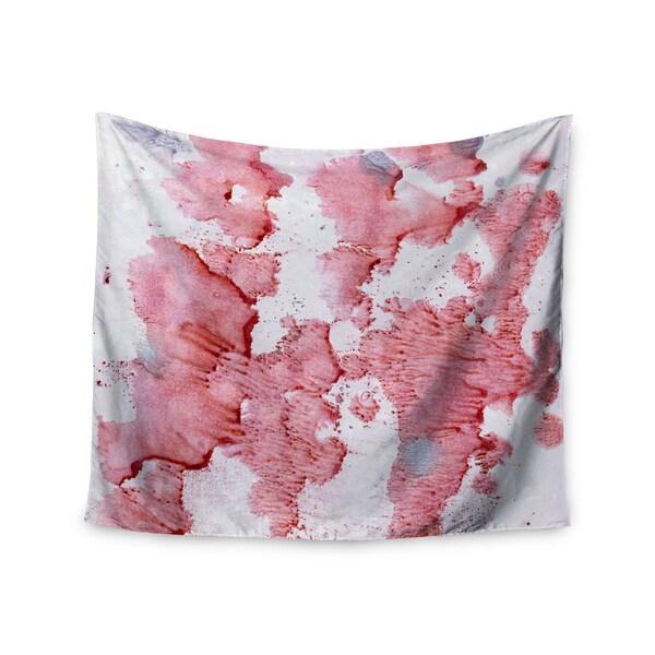 Kess InHouse Iris Lehnhardt 'Soft Pink Splashes' 51x60-inch Wall Tapestry