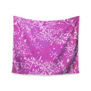 Kess InHouse Iris Lehnhardt 'Twigs Silhouette Pink' 51x60-inch Wall Tapestry