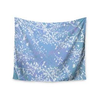 Kess InHouse Iris Lehnhardt 'Twigs Silhouette Pastel Blue' 51x60-inch Wall Tapestry