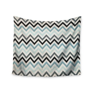 Kess InHouse Heidi Jennings 'Blue Chevron' 51x60-inch Wall Tapestry