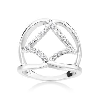 Summer Rose 14k White Gold 1/5ct TDW Diamond Fashion Ring