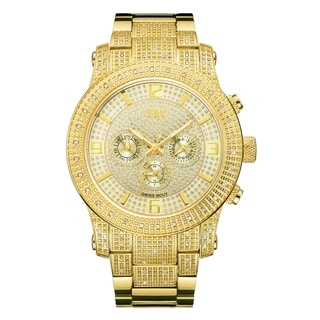 JBW Lynx J6336B 18k Gold-plated Stainless Steel/Diamond Multifunction Men's Watch