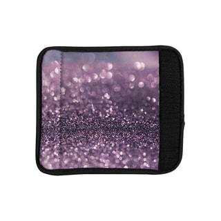 KESS InHouse Debbra Obertanec 'Lavender Sparkle' Purple Glitter Luggage Handle Wrap