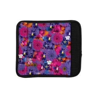 KESS InHouse Akwaflorell 'Find the Tiger' Purple Pink Luggage Handle Wrap