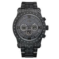 JBW Men's Black Ion-plated Stainless Steel Diamond Watch