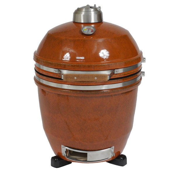 Shop Hanover Kamado Orange Stainless Steel Ceramic 19 Inch