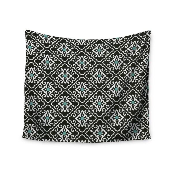 Kess InHouse Heidi Jennings 'Black Blue Geometric' 51x60-inch Wall Tapestry