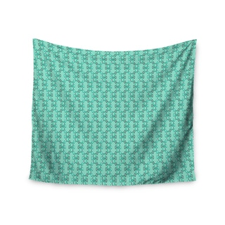 Kess InHouse Holly Helgeson 'Mod Pod' Teal Pattern51x60-inch Wall Tapestry