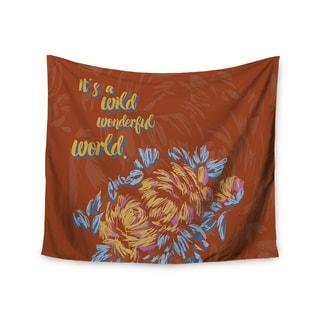 Kess InHouse Gukuuki 'Wonderful World' 51x60-inch Wall Tapestry