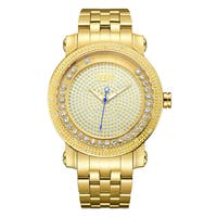 JBW Men's Hendrix J6338B 18k Gold-plated Stainless Steel Diamond Men's Watch