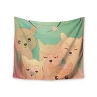 Kess InHouse Graphic Tabby 'Spring Alpacas' 51x60-inch Wall Tapestry