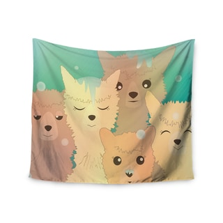 Kess InHouse Graphic Tabby 'Alpacas In Snow' 51x60-inch Wall Tapestry