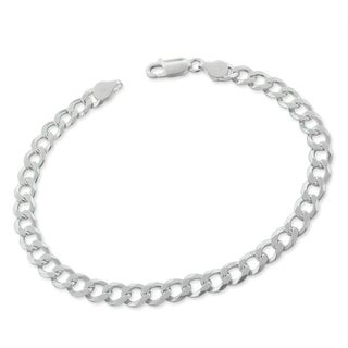 Sterling Silver Italian 6mm Cuban Curb Link ITProLux Solid 925 Bracelet Chain 9""