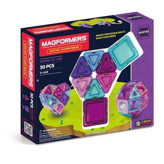 Magformers Inspire Clear Solids Plastic 30-piece Set