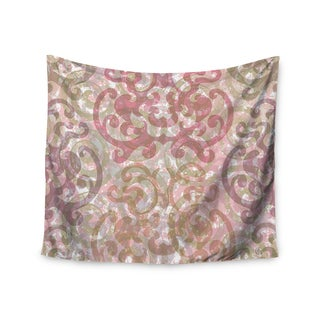 KESS InHouse Chickaprint 'Chintz' Gold Pink 51x60-inch Tapestry