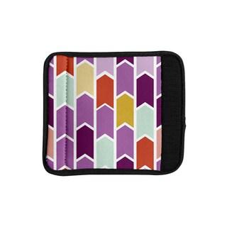 KESS InHouse Pellerina Design 'Orchid Geometric Chevron' Purple Arrows Luggage Handle Wrap